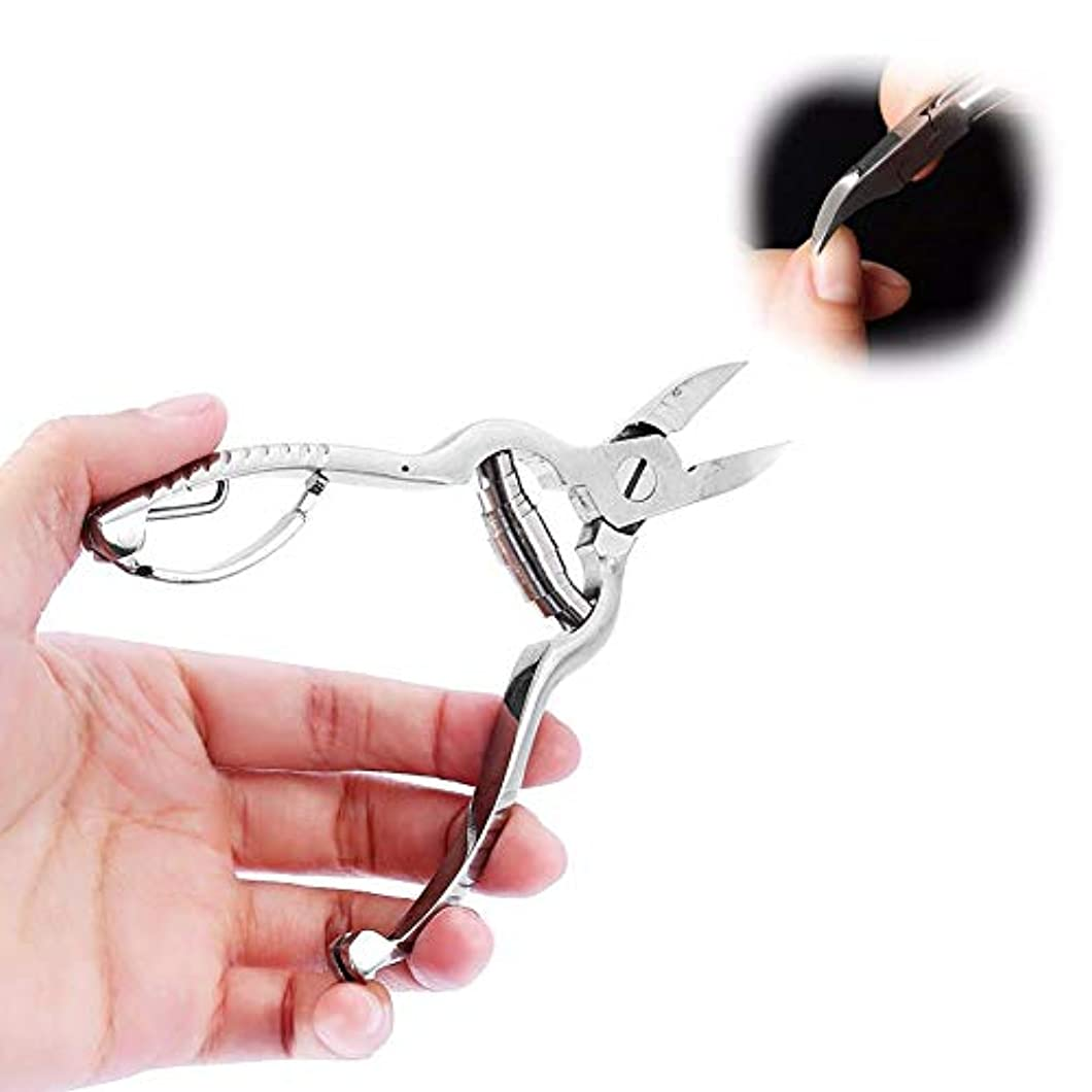 合図ベース広まったプロフェッショナルキューティクルニッパー、ホームユーザーおよびアマチュア向けのステンレス製バレルスプリングハサミ、死んだ皮膚の爪の爪を除去するマニキュアおよびペディキュアツール