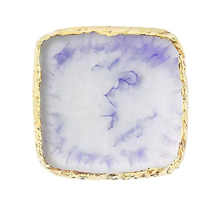 メンターホームレス息子ネイルアートパレット FidgetFidget 天然樹脂ストーンネイルアートカラーパレットアクリルゲルポリッシュホルダー図面カラーペイントディッシュ接着パレットディスプレイ 2#紫