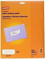 "White Mailing Labels for Laser & Inkjet Printers,1"" x 2-5/8"",750/Box [並行輸入品]"