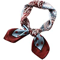 Satin Square Silk Feeling Hair Scarf Headscarf for Women/Men's Necktie Bandanas Pocket Square