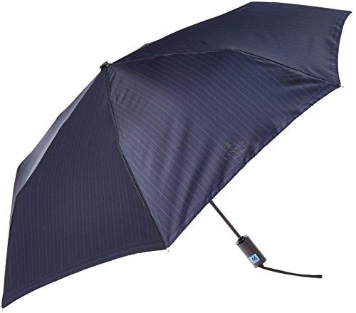 (ムーンバット)MOONBAT ランバン オン ブルー 紳士 自動開閉式 おりたたみ傘 ストライプ柄 21-084-07580-15 74-55 ネイビー 親骨の長さ 55cm