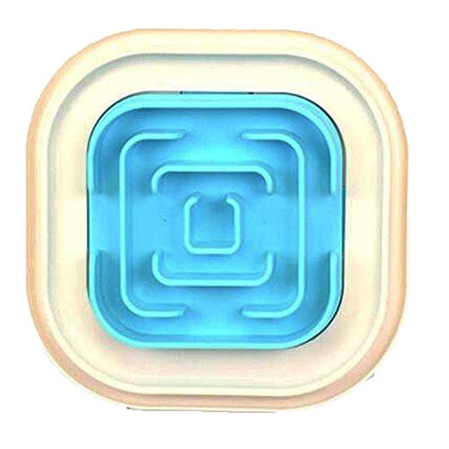 ペットスローフィーダーボウル、楽しい迷路インタラクティブ樹脂素材滑り止め犬猫ユニバーサル(28 * 28cm)-blue