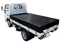 トラックシート(2.9m×4.3m)エステルカラー帆布 ブラック The テント