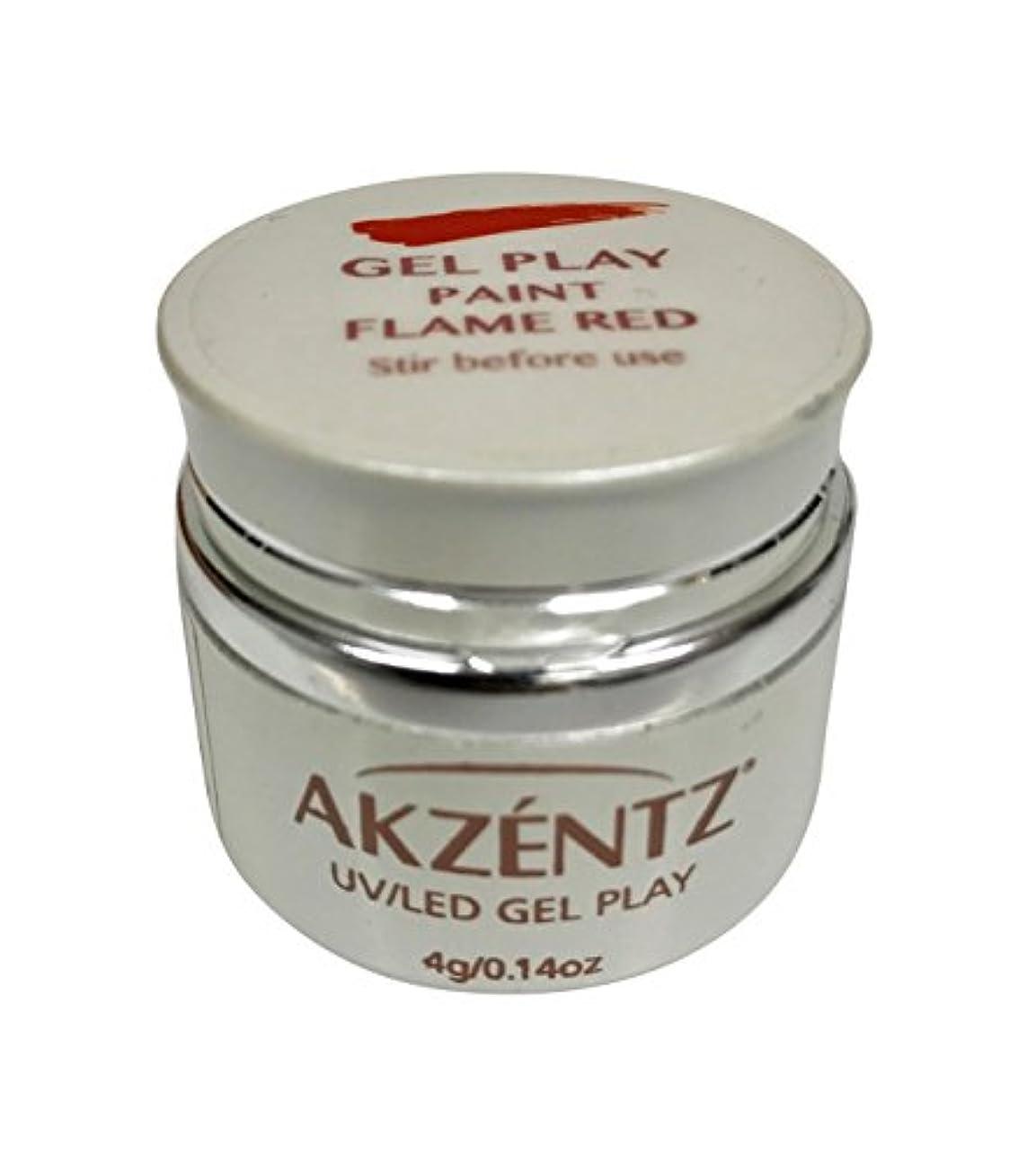 邪魔する腸華氏AKZENTZ(アクセンツ) UV/LED ジェルプレイ ペイントフレイムレッド 4g