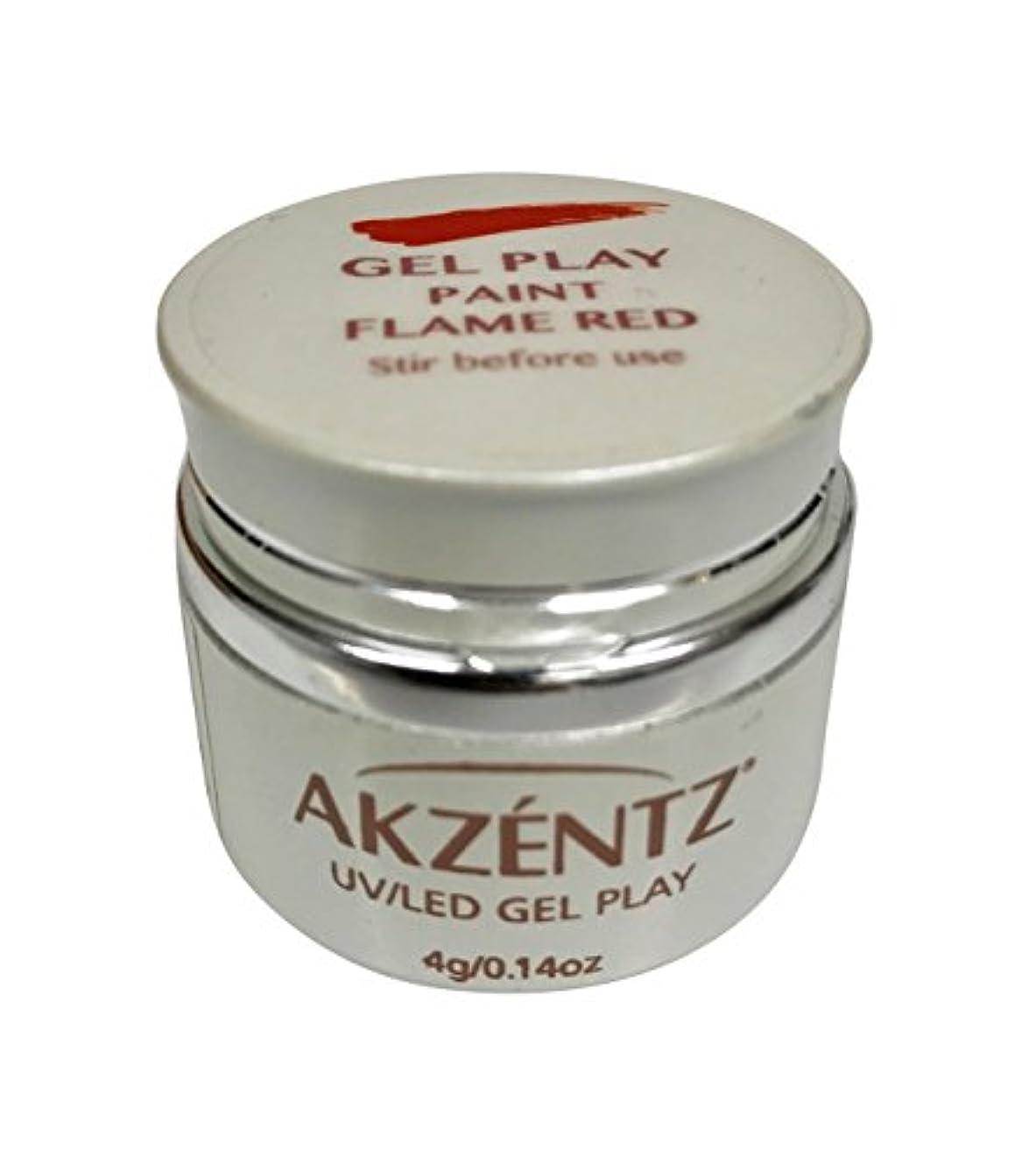ペレグリネーション形式不純AKZENTZ(アクセンツ) UV/LED ジェルプレイ ペイントフレイムレッド 4g