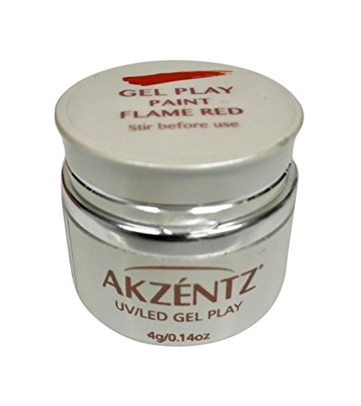 慢な主婦想起AKZENTZ(アクセンツ) UV/LED ジェルプレイ ペイントフレイムレッド 4g