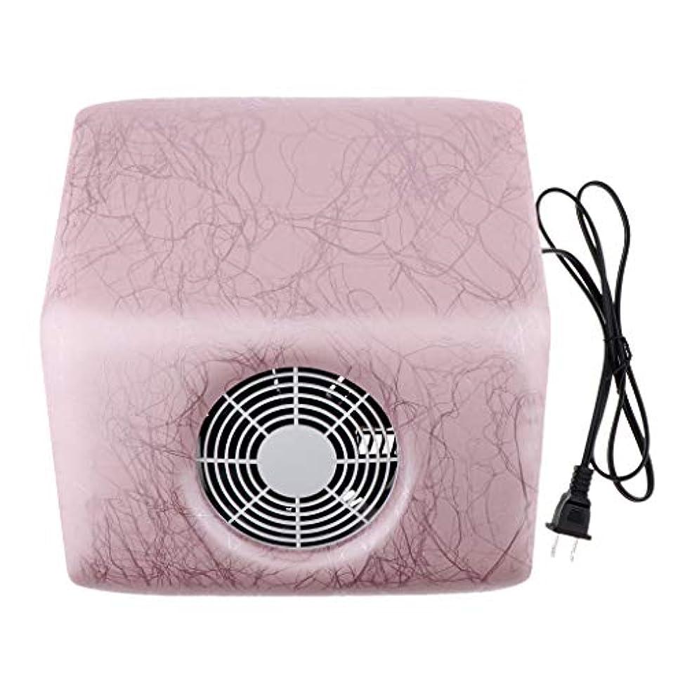 観光に行くフェザー心臓4色選ぶ 110V 40W ネイルダストコレクター ネイルダストサクションファン - ピンク