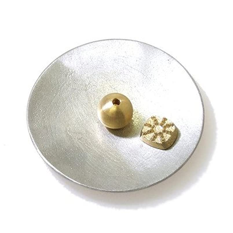 とまり木世紀一致する能作 (のうさく) 香の器セット-丸- 錫