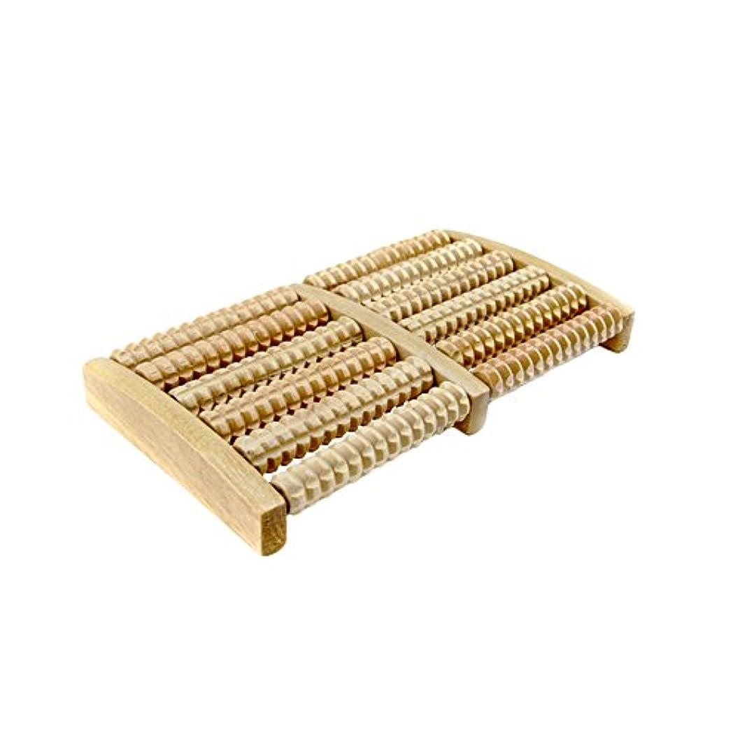 Pumpumly ローラーフットマッサージャー 木製 マッサージ器 ストレス解消 敬老の日 プレゼント (原色)