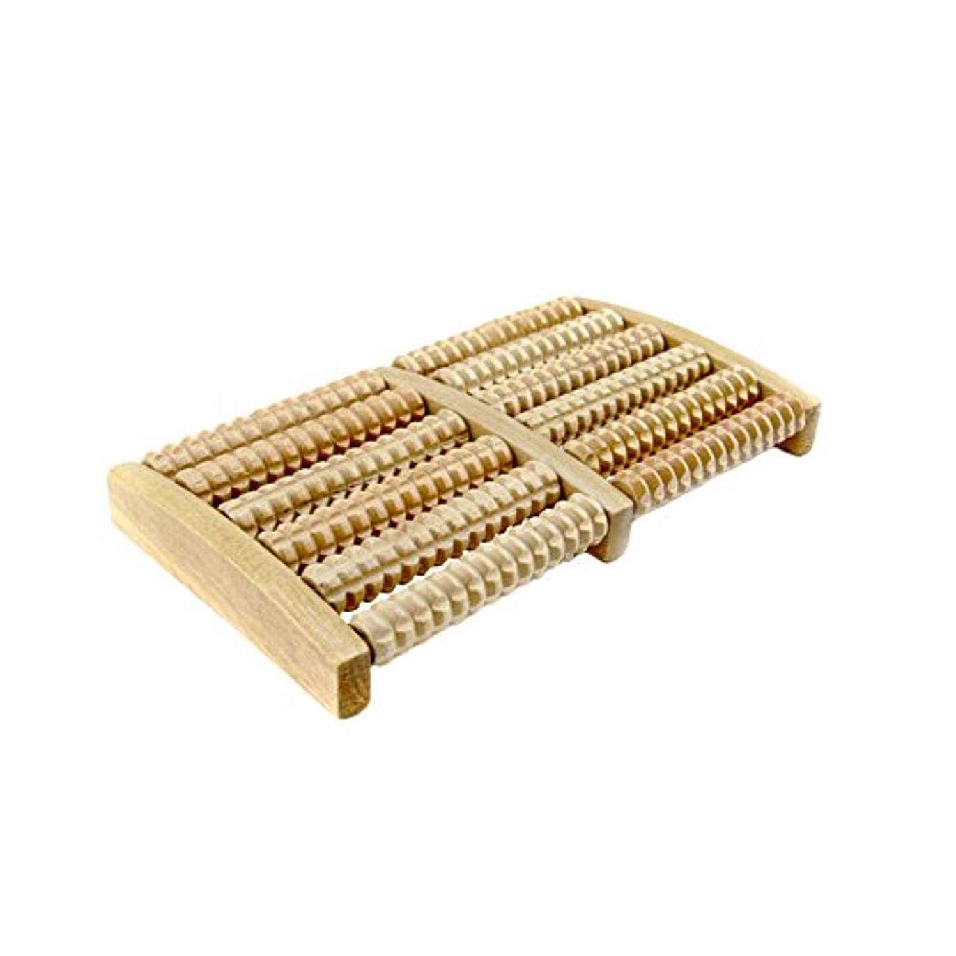誰の効率的に最大化するPumpumly ローラーフットマッサージャー 木製 マッサージ器 ストレス解消 敬老の日 プレゼント (原色)
