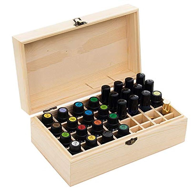 保持乱用資格エッセンシャルオイル収納ボックス 36本用 木製エッセンシャルオイルボックス メイクポーチ 精油収納ケース 携帯用 自然ウッド精油収納ボックス 香水収納ケース