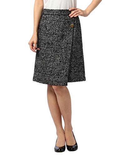 (ノーリーズ) NOLLEY'S モノクロチェック柄スカート 7-0035-6-06-012 36 ブラック・グレー系1
