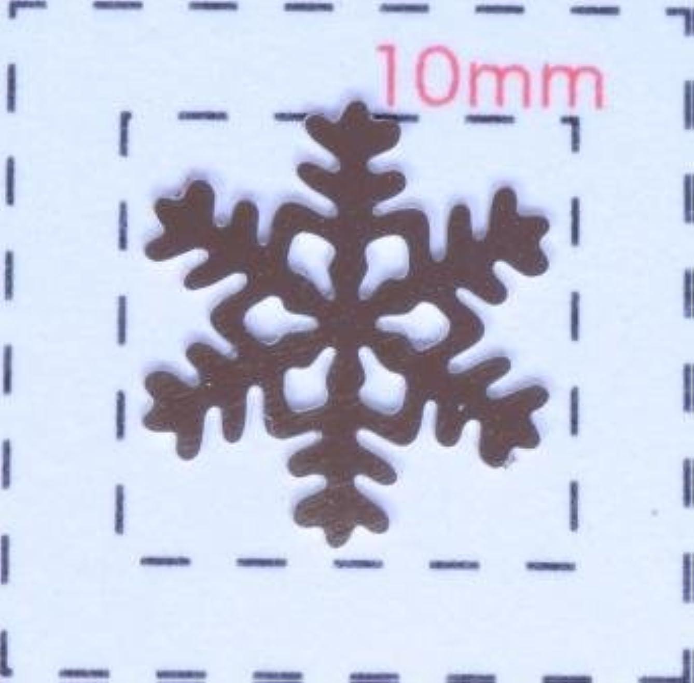 ペグ活性化トリクル雪の結晶メタルパーツ 《ネイル用メタルパーツ》シルバー10個入
