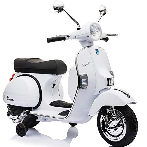 電動乗用バイク Vespa PX150 ベスパ ライセンス 電動乗用 電動バイク 乗用バイク 電動乗用玩具 (ホワイト)