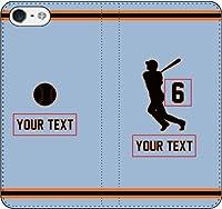 iPhone/Xperia/Galaxy/他機種選択可:野球2箇所カスタム(番号/名前) 手帳ケース(アウェー_2_A/デザイン_6_A) 05 iPhone7