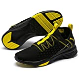 PUMA Men's Mantra Sneaker, Black-Blazing Yellow