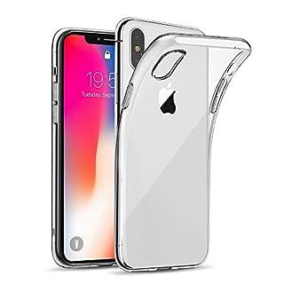 623f44dcb9 iPhone X ケース クリア Danpix iPhone X ソフトカバー 透明TPU [落下防止][黄変防止][薄型 軽量][QI充電対応]