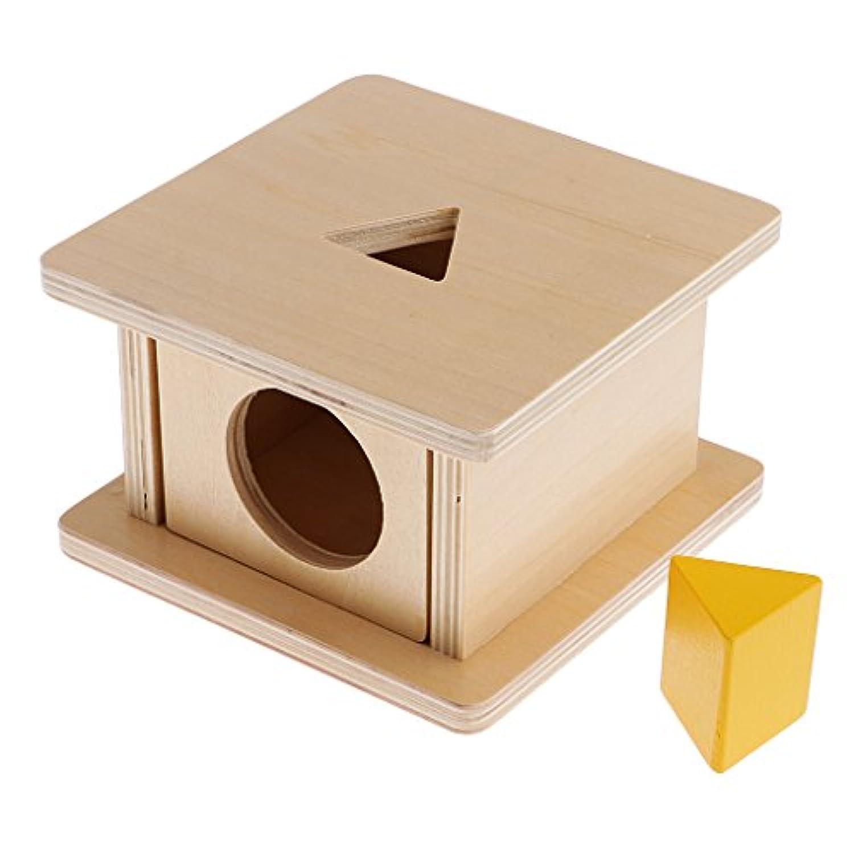 monkeyjack Montessori木製Matchingスタンドボックスおもちゃ子供教育学習おもちゃプリズム