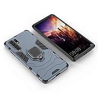 携帯電話ケース保護カバー Huawei社のためのHYF PC + TPU耐衝撃保護ケースは、磁気リングホルダーと、P30 PRO MATE(グレー) (Color : Gray)
