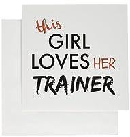 3drose This Girl Loves Herトレーナーブラックandレッドレタリンググリーティングカード、セットの6( GC _ 200623_ 1)
