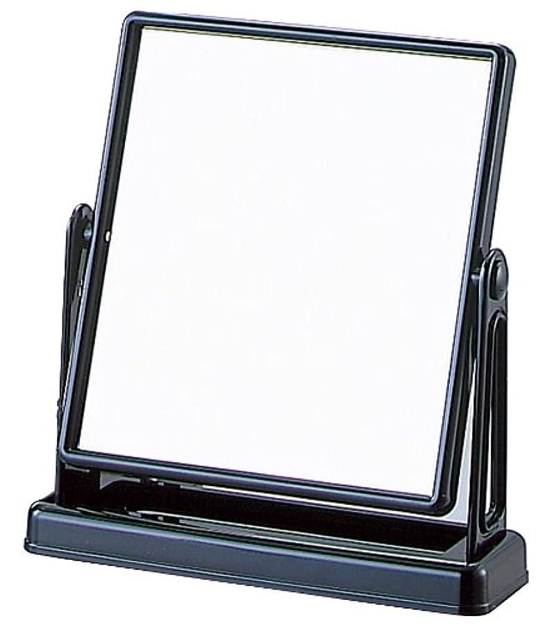 抵抗力がある窓を洗う意味する角型 スタンドミラー Y-2005 ブラック