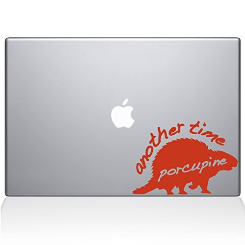 The Decal Guru 1005-MAC-13P-P Another Time Porcupine Vinyl Sticker 13 Macbook Pro (2015 & older) Orange [並行輸入品]