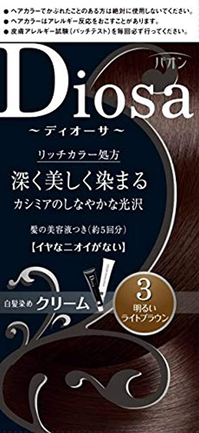 メロディー賛辞不完全なパオン ディオーサ クリーム 3 明るいライトブラウン 40g+40g 髪の美容液10g
