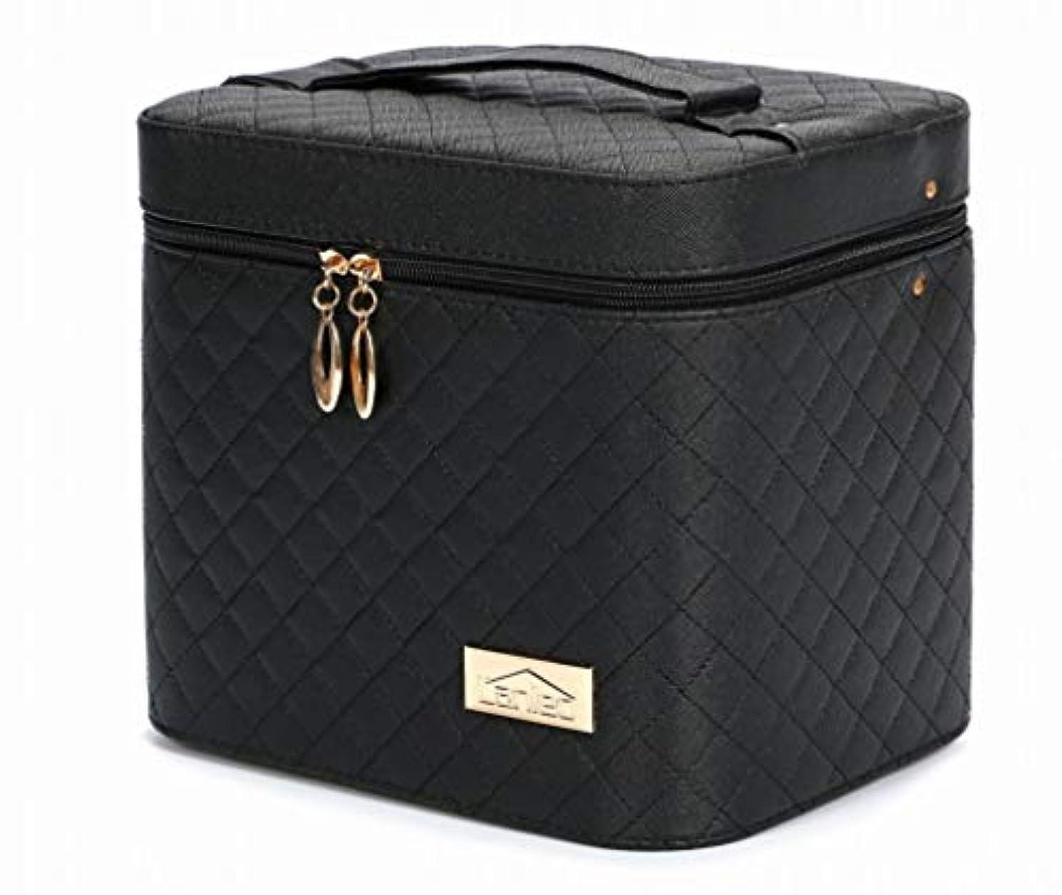思慮のない真鍮蜂r_planning メイクボックス コスメボックス 大容量 化粧箱 収納ケース 小物入 ミラー付