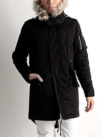(ラフタス)Rafftas ミリタリー ファー モッズコート Mサイズ ブラック メンズ アウター デザイナーズ ブランド 防寒 メンズコート
