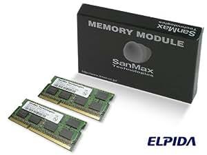 サンマックス・テクノロジーズ SanMax ノート用メモリ ELPIDA DRAM搭載 204pin DDR3-1333 (PC3-10600) SODIMM CL9 8GB(4GB x 2枚)セット 1.5volt JEDEC準拠 SMD-N8G68NP-13H-D