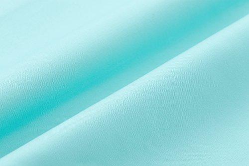 COMODO 透けにくい厚生地仕様の無地抱き枕カバー サイドファスナータイプ 被せやすい横ファスナータイプのだき枕カバー (150cm x 50cm タイプ, アイスブルー)