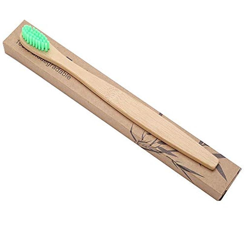 盆辞書交換口の健康 贅沢ケア 柔らかい歯ブラシ 歯ブラシ 歯周ケアハブラシ 超極細毛 コンパクトかため 竹ハンドル ブラシ 知覚過敏予防 大人用ハブラシ 3本 色は選べません(グリーン)