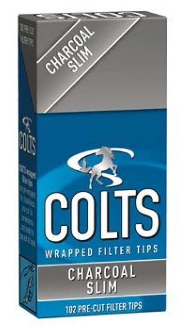 誤って遊び場カンガルー[colts] コルツ スリム チャコール フィルター 102個入りx5パック 手巻きタバコ