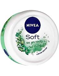 NIVEA Soft Light Moisturizer Chilled Mint With Vitamin E & Jojoba Oil, 50 ml