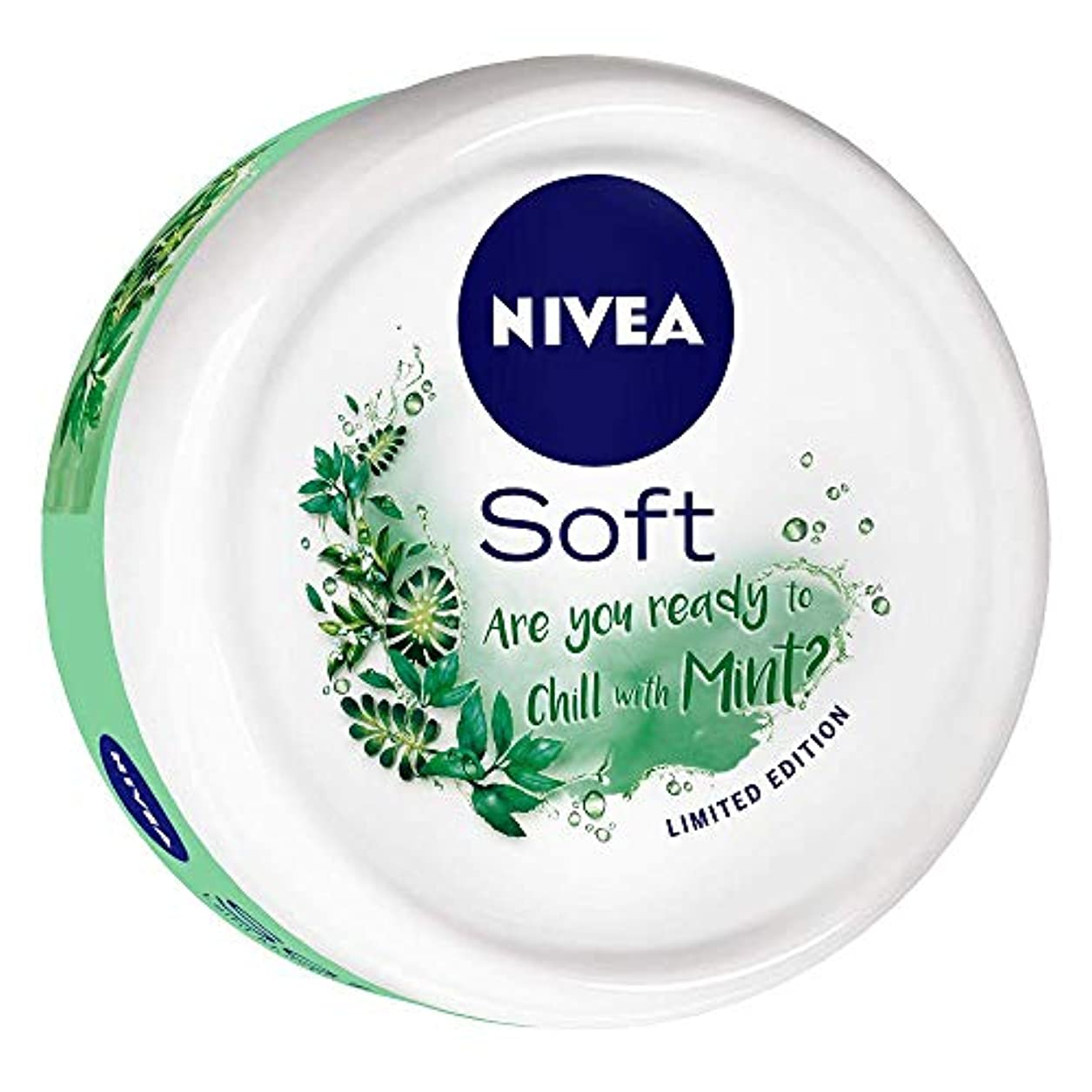 司令官シンプルさ解任NIVEA Soft Light Moisturizer Chilled Mint With Vitamin E & Jojoba Oil, 50 ml