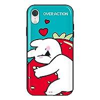 すこぶる動くウサギ 正規品 iPhone XR スマホケース 光沢 グロッシー ハードケース オーバーアクション バンパーケース Over Action Rabbit かわいい 韓国 宅急便 (TH-121)