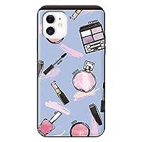 iPhone11 iPhoneケース (ハードケース) [カード収納/耐衝撃/薄型] Bloem (ブルーム) Bloem Paint Cosme Blue スマホケース 携帯電話用ケース アイフォンケース CollaBorn
