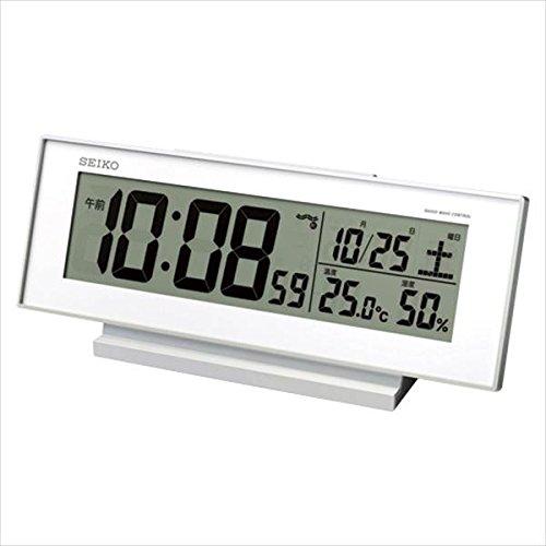 セイコー:置時計 (電波時計) 夜でも見える電波時計 SQ762W 19196