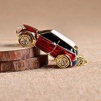 ラインストーン ラブリーカー ミニクーパーカー キーチェーン キーリング キーチェーン リング リテールボックス付き BABY520 カラー ネーム レッド