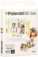 Polaroid 3.5X 4.25インチプレミアムZink Border印刷写真用紙 40 Pack POL-ZL3X440