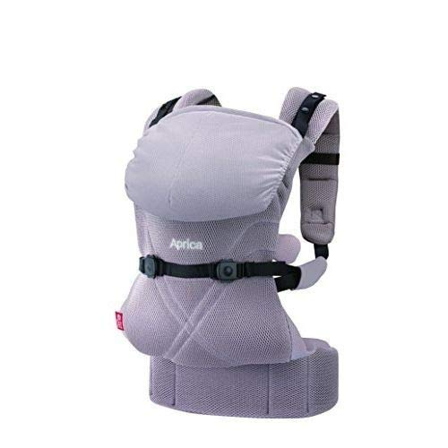 Aprica アップリカ 抱っこひも コラン CTS AB リュクス グレー GR 4WAYタイプ 疲れにくい腰ベルト &モッチリ肩パッド付 39572
