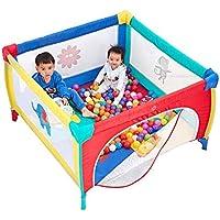 キャリーケース付き屋外折りたたみ式のマットとボールを備えた子供用の遊び場男の子と女の子用の安全柵