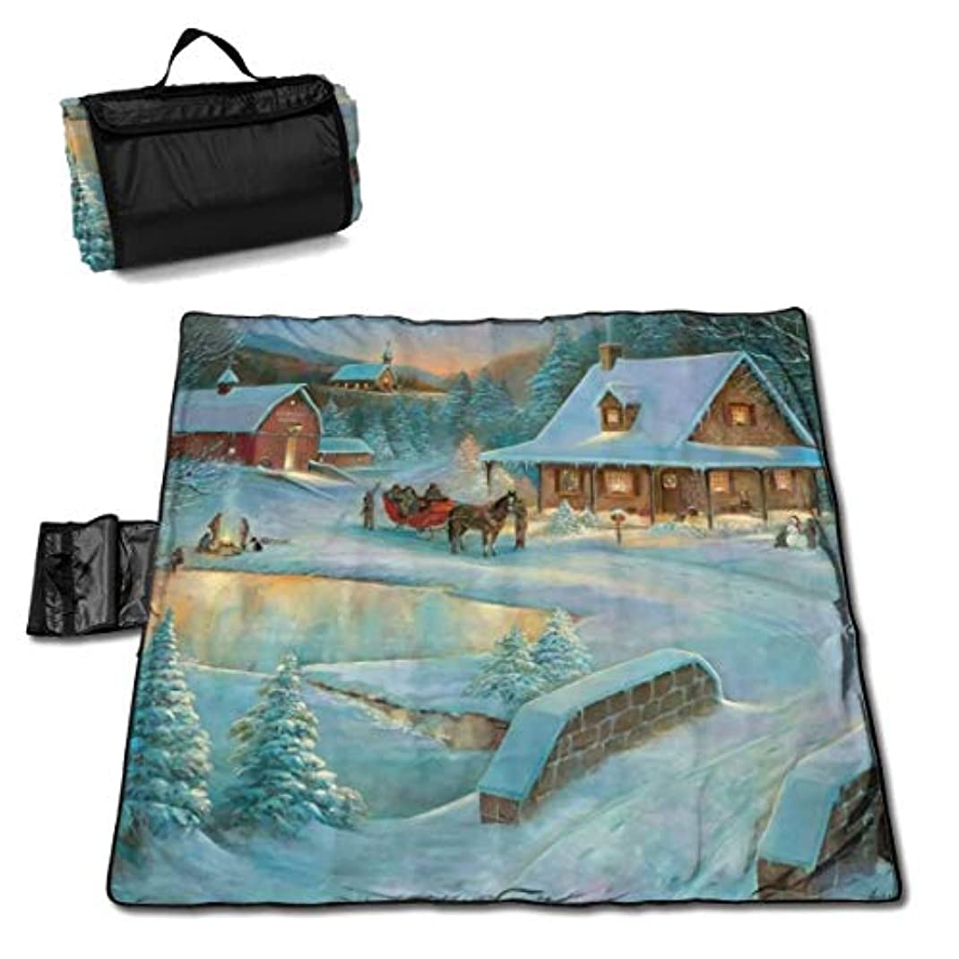 謙虚家事降雨Vvdsfsaaaレジャーシート クリスマスツリー農場 ピクニックマット防水 携帯便利 150×145cm 2~6人用
