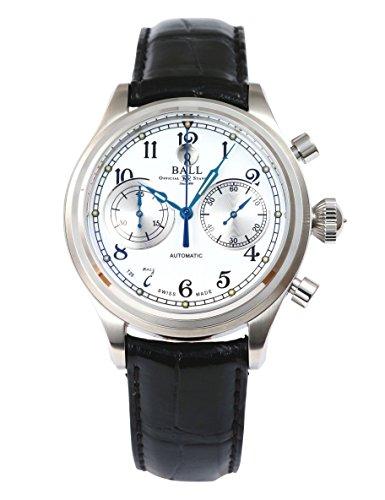 [ボールウォッチ]BALL Watch 腕時計 キャノンボールII ホワイト文字盤 クロコダイル 50m防水 CM1052D-L3FJ-WH メンズ 【並行輸入品】