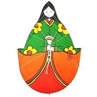 日本製 民芸品 和凧 北九州市 戸畑 孫次凧 ひな祭り お雛様 女雛 凧 (大)