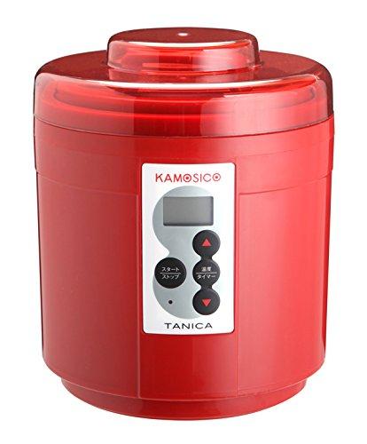 タニカ電器 発酵食メーカー 醸壺(カモシコ) レッド