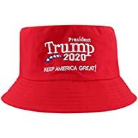 Trump 2020 Hat, Donald Trump Bucket Hats for Men & Women, President Trump 2020 Keep America Great Campaign Hat