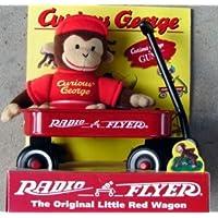 1998 Gund Curious George Monkey & Radio Flyer Wagon Set [並行輸入品]