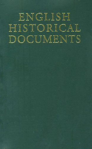 English Historical Documents: c. 500–1042, Second Edition (English Historical Documents, 500-1042 Book 1) (English Edition)