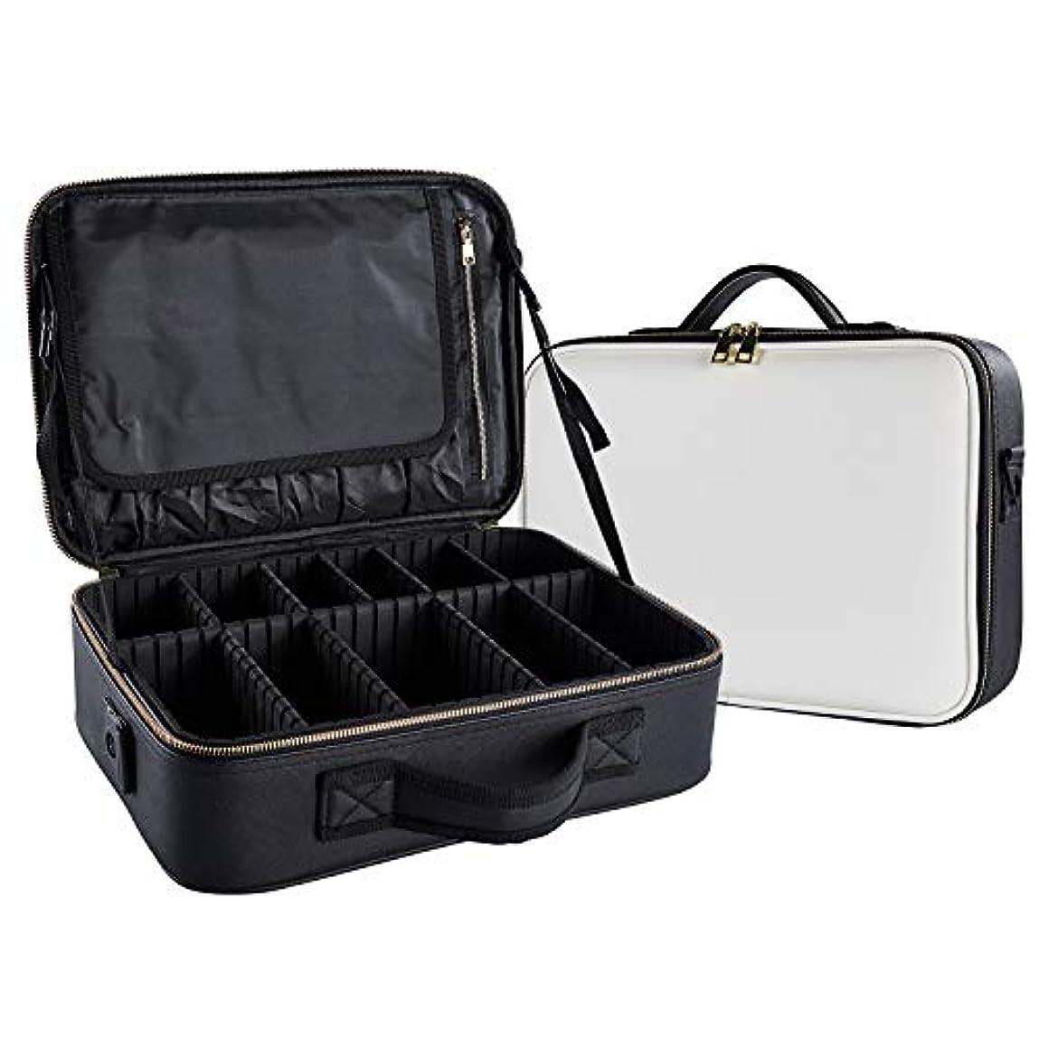 たるみ電子レンジ損なうArcEnCiel メイクボックス プロ用 化粧道具 コスメ収納 化粧箱 收納抜群 大容量 メイクアップ ボックス